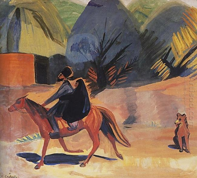 On The Horse 1912