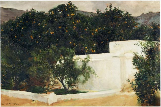 Orange Trees On The Road To Seville 1903