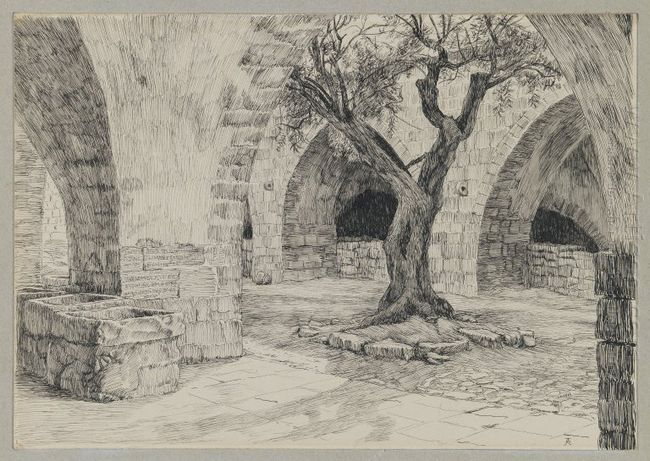 Out Building Of The Armenian Convent Jerusalem Illustration From
