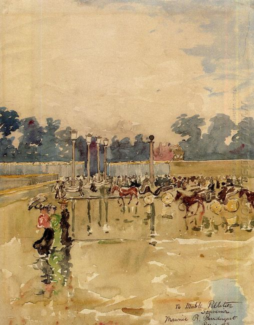 Paris Boulevard In The Rain 1893
