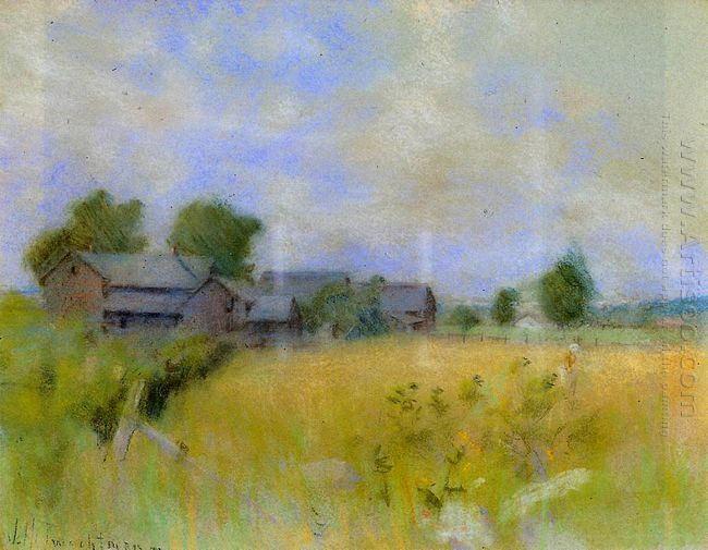 Pasture With Barns Cos Cob