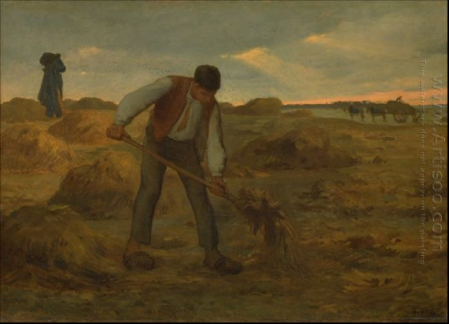 Peasand Spreading Manure 1855