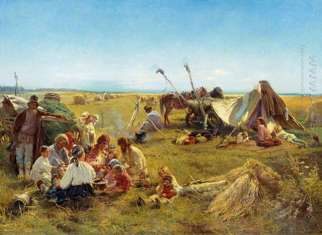Peasant Dinner During Harvesting