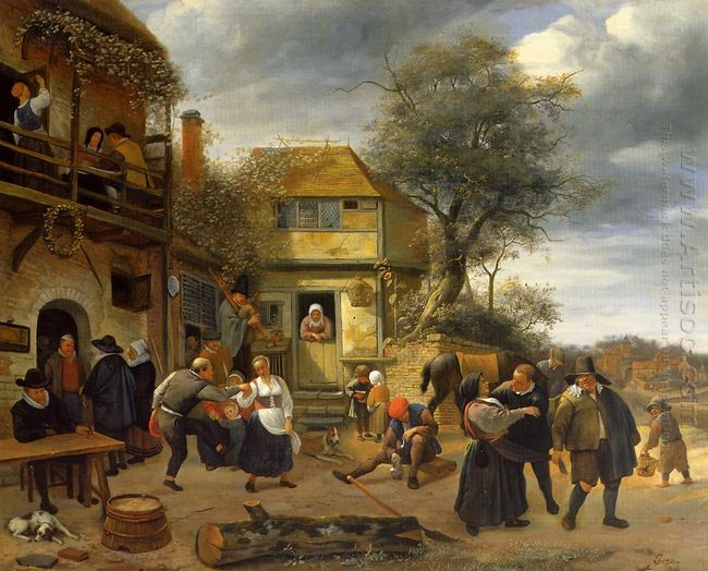 Peasants Before An Inn 1653