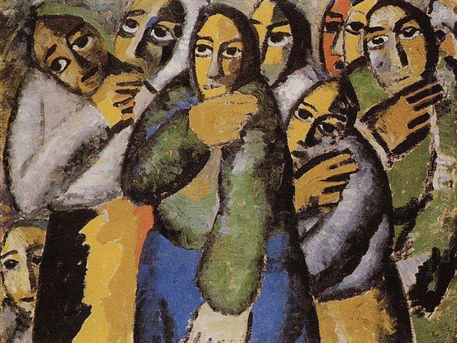 Peasant Women In A Church
