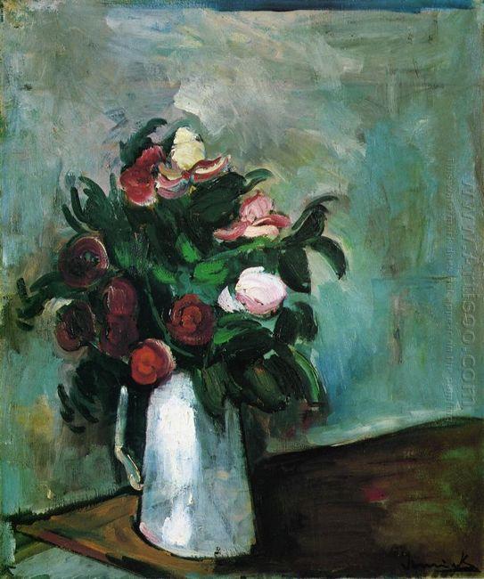 Peonies In A Vase 1910