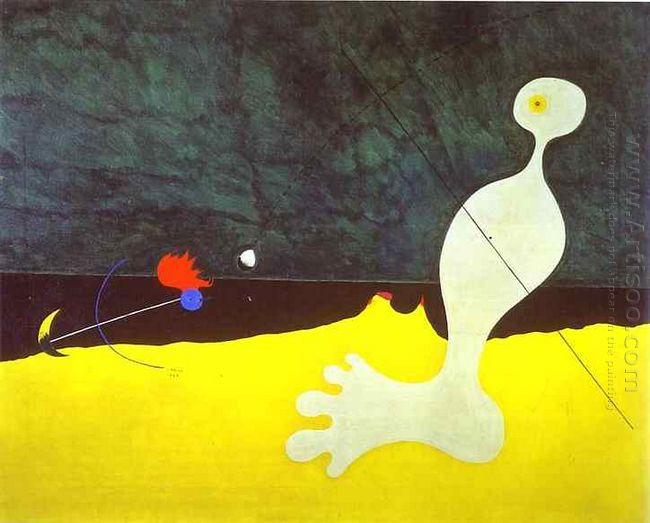 Person Throwing a Stone at a Bird by Joan Miro for sale