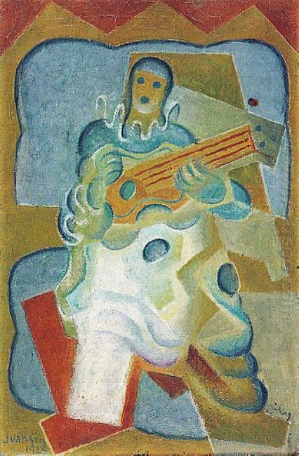 Pierrot Playing Guitar 1923