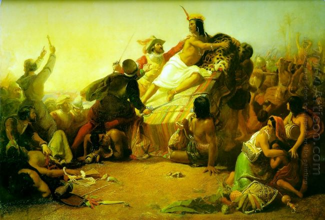 Pizarro Seizing The Inca Of Peru