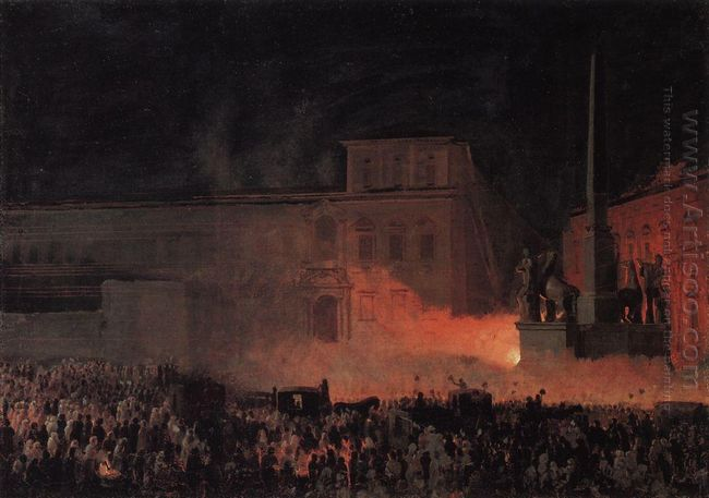 Political Demonstration In Rome In 1846