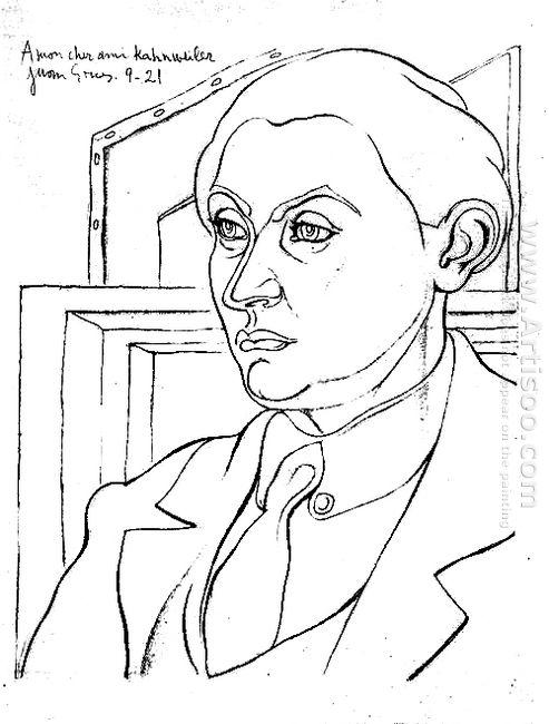 Portrait Daniel Henry Kahnweiler 1921