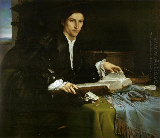Portrait Of A Gentleman In His Study