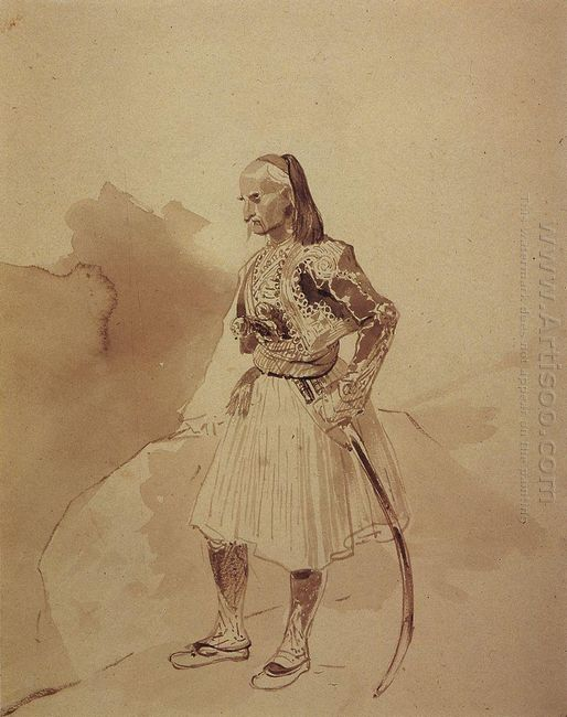 Portrait Of A Greek Insurgent Theodore Kolokotroni