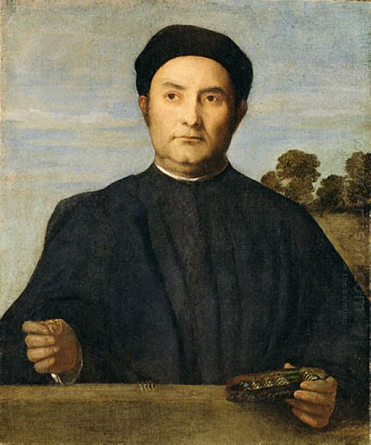 Portrait Of A Jeweler Possibly Giovanni Pietro Crivelli