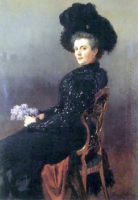 Portrait Of A Lady In Chair