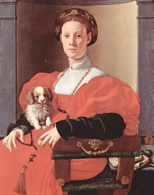 Portrait Of A Lady In Red Dress