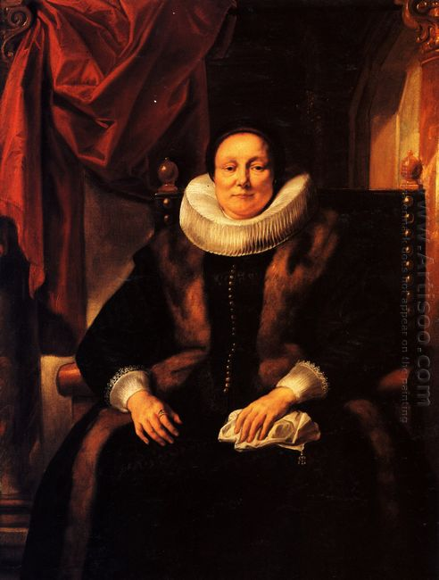 Portrait Of A Lady Sitting In A Chair