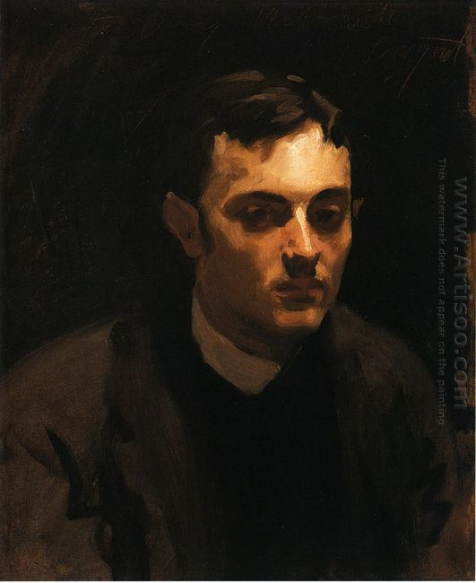 Portrait Of Albert De Belleroche 1882
