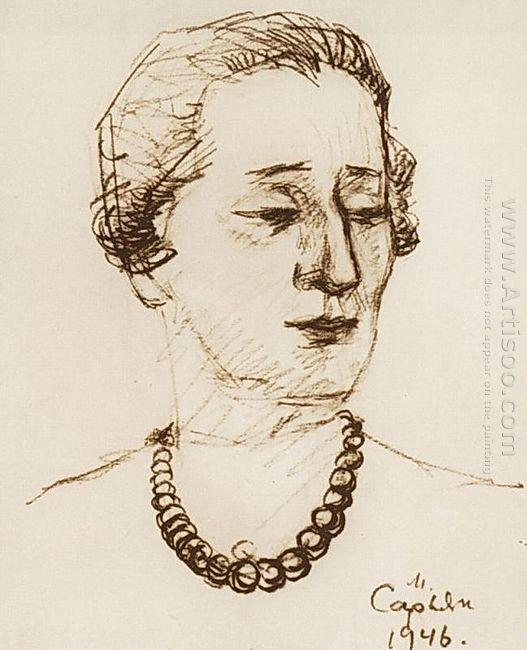 Portrait Of Anna Akhmatova 1946