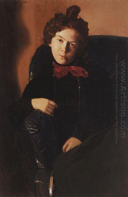 Portrait Of Anna Ostroumova Lebedeva 1901