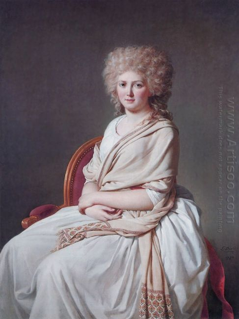 Portrait Of Anne Marie Louise Thélusson Countess Of Sorcy 1790