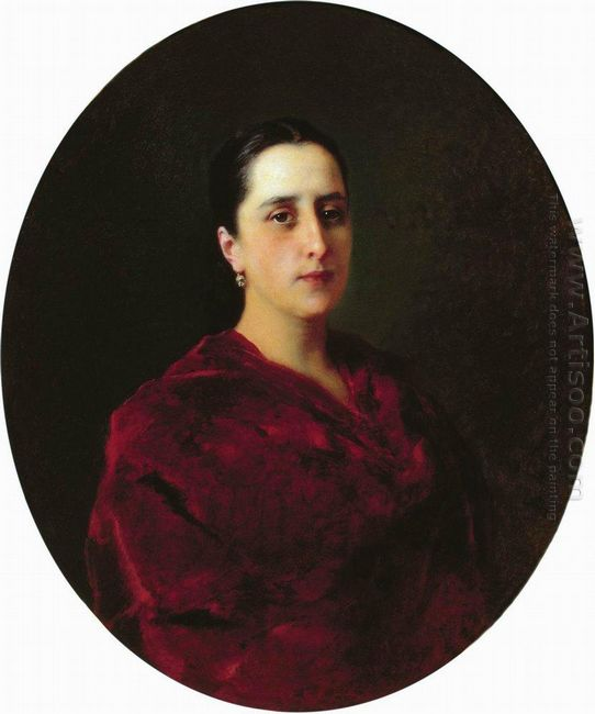 Portrait Of An Unknown In Red Dress