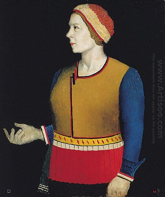 Portrait Of Artist S Wife N A Malevich 1933