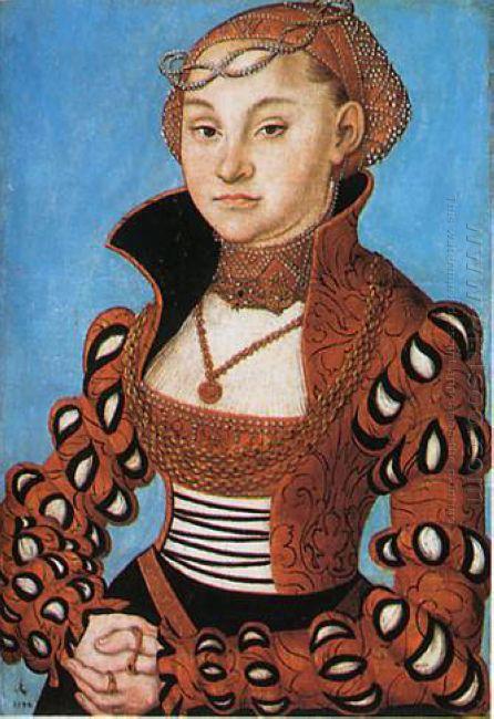 Portrait Of A Saxon Noblewoman 1534
