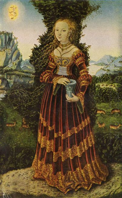 Portrait Of A Saxon Noblewoman As Mary Magdalene 1525
