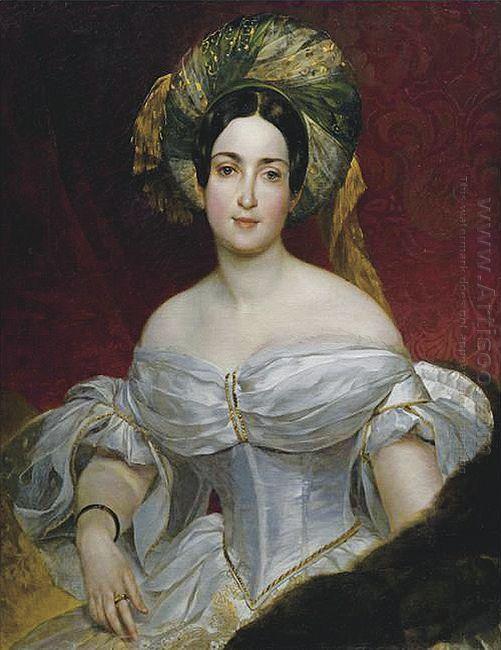Portrait Of Aurora Demidova 1838