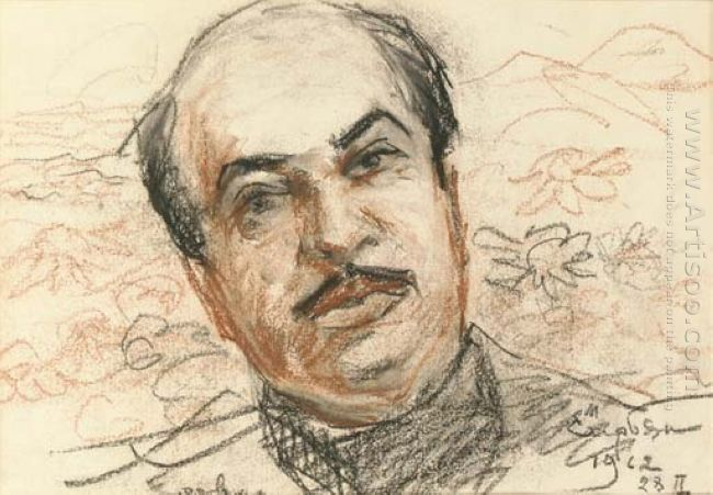 Portrait Of Boris Parsadanyan 1962