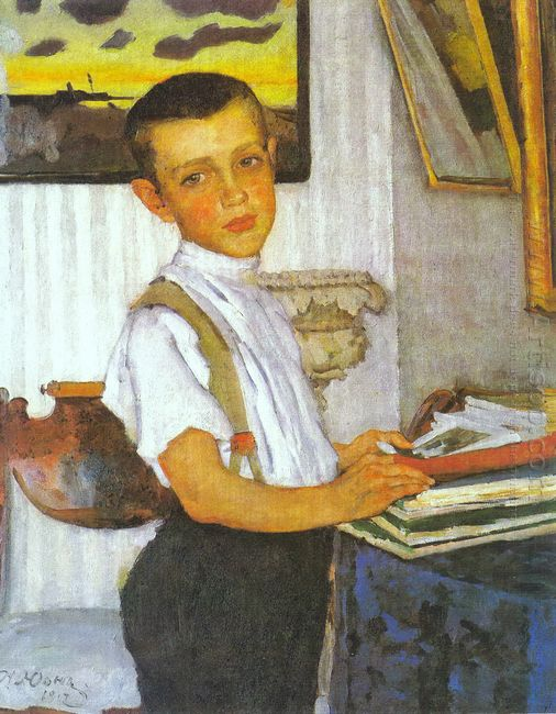 Portrait Of Boris Yuon Artist S Son 1912