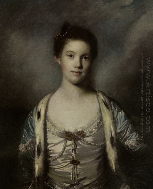 Portrait Of Bridget Moris In A White Silk Dress
