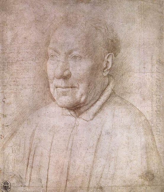Portrait Of Cardinal Albergati 1435