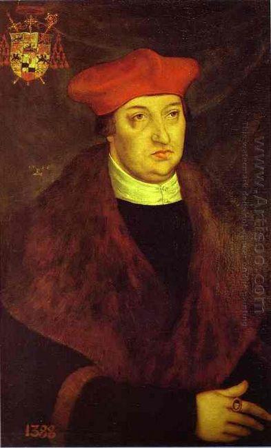 Portrait Of Cardinal Albrecht Of Brandenburg 1526 1