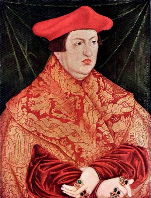 Portrait Of Cardinal Albrecht Of Brandenburg 1526