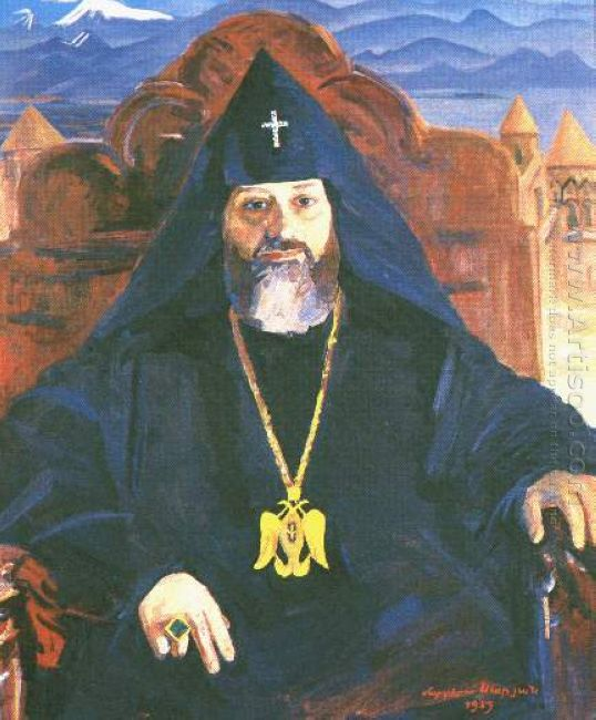 Portrait Of Catholicos Of All Armenians Vazgen I 1959