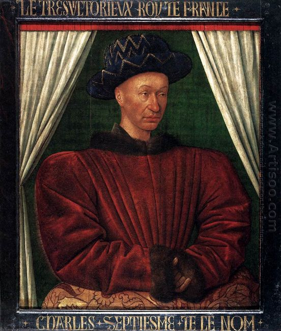 Portrait Of Charles Vii King Of France