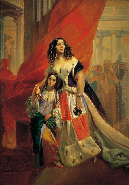 Portrait Of Countess Yu P Samoilova And Her Ward Amacilia Pacini