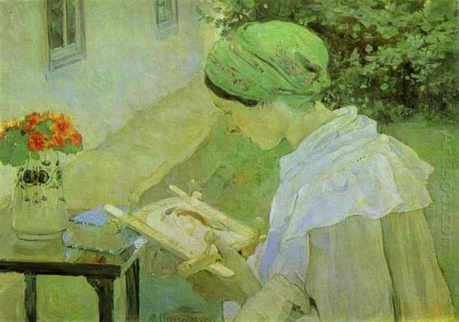 Portrait Of Ekaterina Nesterova 1909