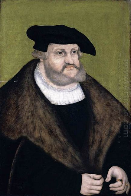 Portrait Of Elector Frederick The Wise In His Old Age 1525