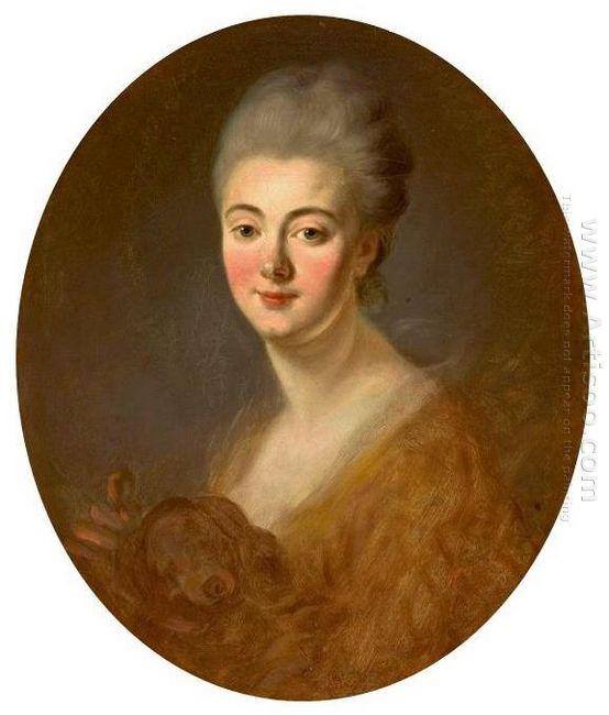 Portrait Of Elisabeth Sophie Constance De Lowendhal 1785