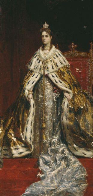 Portrait Of Empress Alexandra Feodorovna Alix Of Hesse