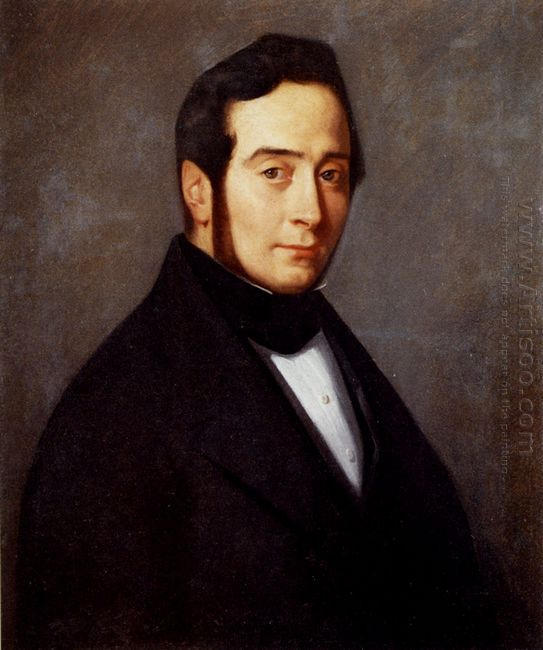 Portrait Of Eugene Canoville 1840