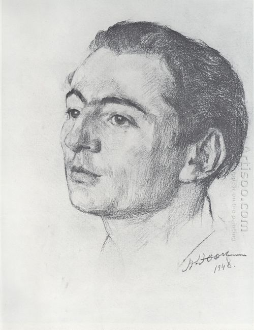 Portrait Of E V Braginsky 1948