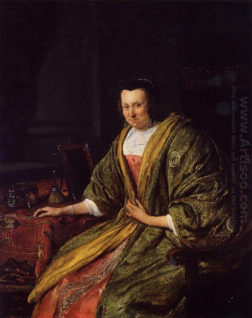 Portrait Of Geertruy Gael Second Wife Of Gerrit Gerritsz Schoute
