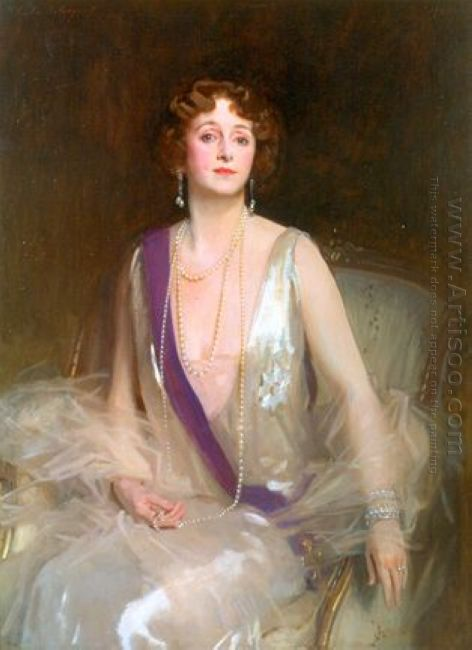 Portrait Of Grace Elvina Marchioness Curzon Of Kedleston 1925