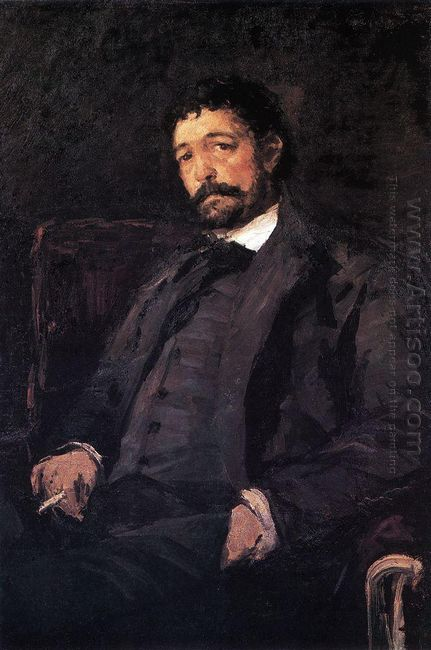 Portrait Of Italian Singer Angelo Masini 1890