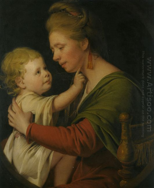 Portrait Of Jane Darwin And Her Son William Brown Darwin