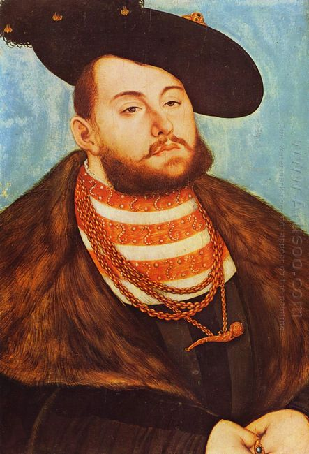 Portrait Of Johann Friedrich Elector Of Saxony 1531